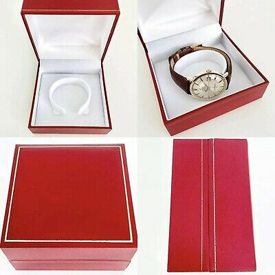 Traditional Red Watch Storage Box Perfect For Vintage Omega, Longines, Cartier • 20£