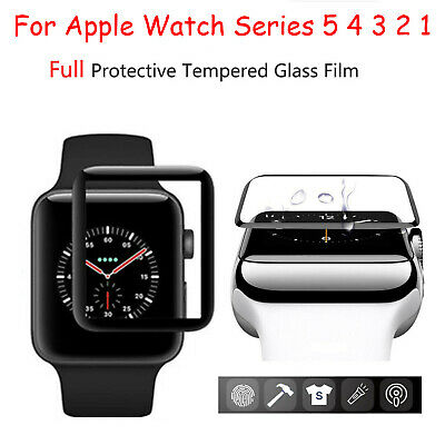 $ CDN7.02 • Buy Clear Full Tempered Glass Film For Apple Watch Series 5 4 3 2 1 Screen Protector