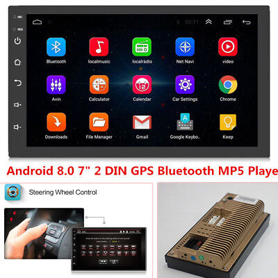 $110.19 • Buy 2DIN Android 8.0 Car Radio GPS Navigation Audio Stereo Car Multimedia MP5 Player