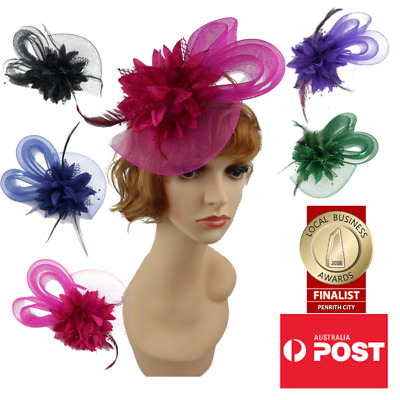 AU14.50 • Buy Women's Fashion Fascinators Spring Races Melbourne Cup Mesh And Feathered Flower