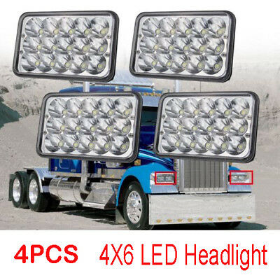 $ CDN64.12 • Buy 4pcs LED Headlights 4x6 For Kenworth T800 T400 T600 W900B W900L Classic120/132