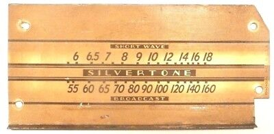 $ CDN25.37 • Buy Vintage SILVERTONE 6421 TABLE TOP RADIO:  METAL STATION GRAPHIC 6 & 1/4   X  3