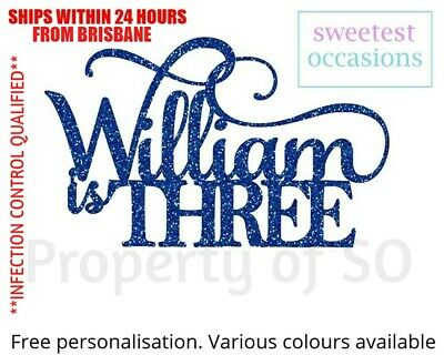 AU11 • Buy Personalised Custom 1st 2nd 3rd 4th - Any Age Birthday Cake Topper