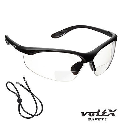 VoltX CONSTRUCTOR BIFOCAL Reading Safety Glasses CE EN166F Clear UV Class 1 • 14.99£