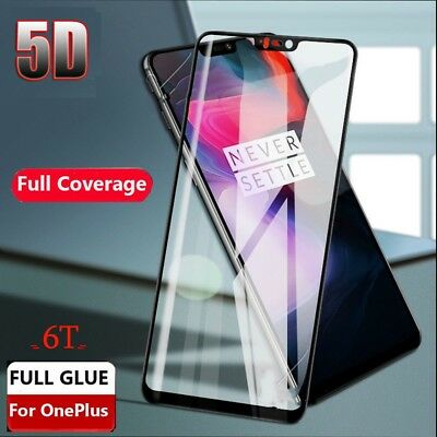 AU4.05 • Buy For OnePlus 6T 5 6 5T Full 3D Curved Edge Tempered Glass Film Screen Protector