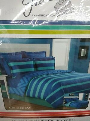 $ CDN56.97 • Buy Fiesta Queen 4pc Reversible Comforter Set Fiesta Biscay