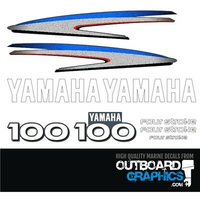 AU79.03 • Buy Yamaha 100hp 4 Stroke Outboard Decals/sticker Kit