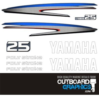 AU63.68 • Buy Yamaha 25hp 4 Stroke Outboard Decals/sticker Kit