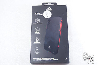 AU13.54 • Buy Authentic Adidas Solo Dual Layer Protective Case For Apple IPhone X - Black/Red