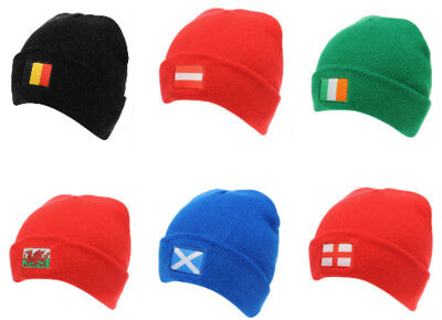 £7.64 • Buy National Flag Beanie Hats Adult Size