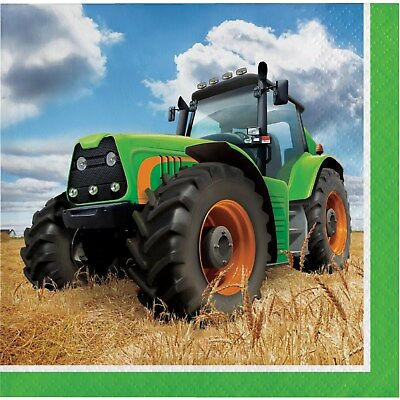 AU5.99 • Buy Tractor Party Supplies Small Paper Napkins Serviettes (pack 16)