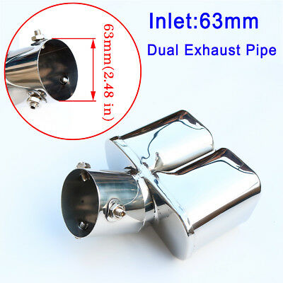 $ CDN36.99 • Buy Auto Parts 63mm 2.5  Inlet Universal Exhaust Pipe Rear End Tail Silencer Cover