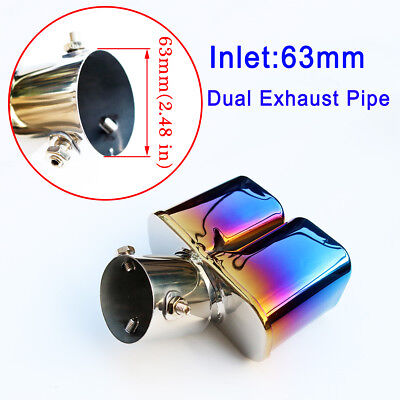 $ CDN37.04 • Buy Universal Muffler Tail Exhaust Rear Pipe Tip Cover Truck Parts 63mm Inlet 2.5