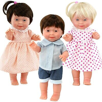 Baby Dolls With Down's Syndrome Realistic Lifelike Soft Vinyl Dolls, 14 Inches • 14.99£