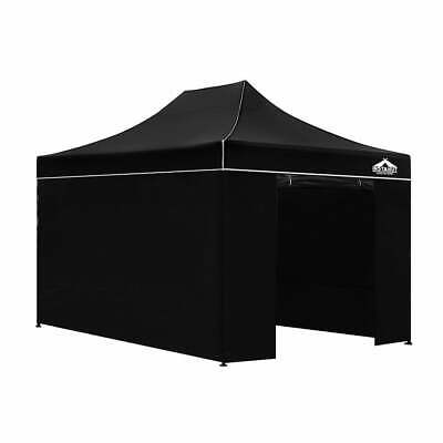 AU200.75 • Buy Instahut Gazebo Pop Up Marquee 3x4.5m Folding Wedding Tent Gazebos Shade Black