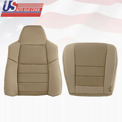 $353.33 • Buy 2003 2004 2005 Ford F250 F350 Driver Top & Bottom Cloth Seat Cover Pebble Tan