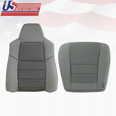 $351.85 • Buy 2003 2004 2005 Ford F250 F350 Driver Top & Bottom Cloth Seat Cover Med Flint Gry