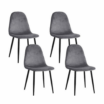 AU112.79 • Buy 4 X Artiss Dining Chairs Dark Grey