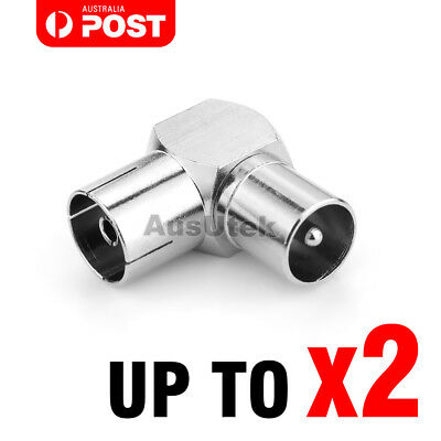 AU6.45 • Buy 90 Degree Right Angle TV Aerial PAL Connector Adapter RF Coaxial TV Cable AU