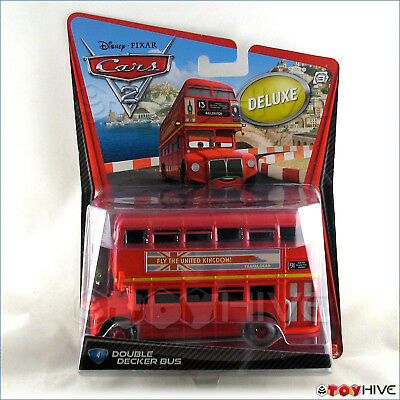 $ CDN34.44 • Buy Disney Pixar Cars 2 Deluxe Double Decker Bus #4 By Mattel Diecast