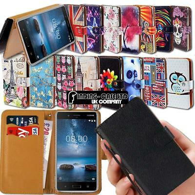 For Various Nokia 1/2/3/5/6/7/8/9 Phones Leather Smart Stand Wallet Case Cover • 3.99£