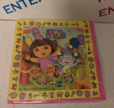 Pack 16 Dora The Explorer Party Napkins/Serviettes Birthday/Any Occasion • 1.89£