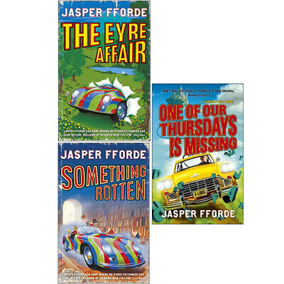 Jasper Fforde 3 Books Collection Set Thursday Next Series The Eyre Affair • 19.99£