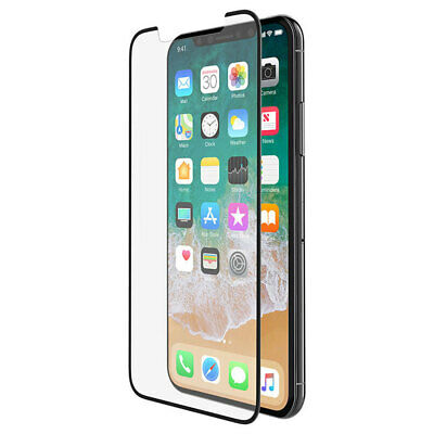 AU56 • Buy Belkin Curve Tempered Glass Screen Protector Force Guard For Apple IPhone X BLK
