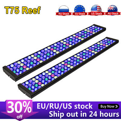 AU449.64 • Buy PopBloom Marine Aquarium Led Light Full Spectrum For 72  6ft Reef Coral Tank