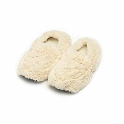 £15.99 • Buy Warmies Cozy Cream Slippers Heatable Microwavable Plush Foot Bed Warmer Gift
