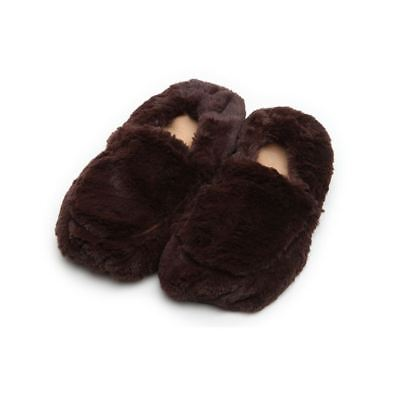 £16.95 • Buy Warmies Cozy Brown Slippers Heatable Microwavable Plush Foot Bed Warmer Gift