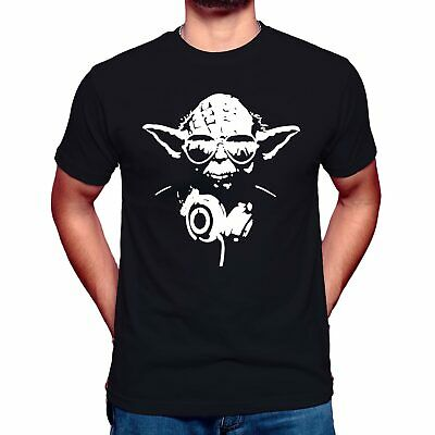 DJ YODA Mens T-Shirt Star Trooper Music Storm Wars JEDI Funny Design Unisex Top • 6.99£