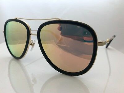 10d843c4181 Authentic Gucci GG0062S 001 57mm Urban Collection Black Gold Aviator  Sunglasses • 189.99