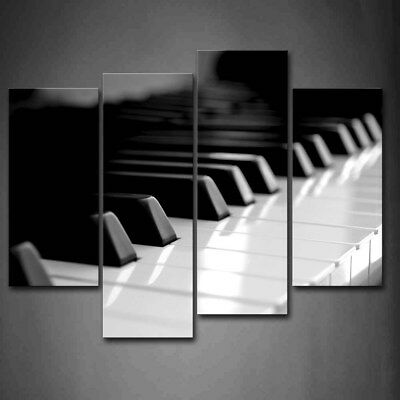 $47.49 • Buy Framed Black And White Piano Keyboard Wall Art Canvas Print Artwork Art Pictures