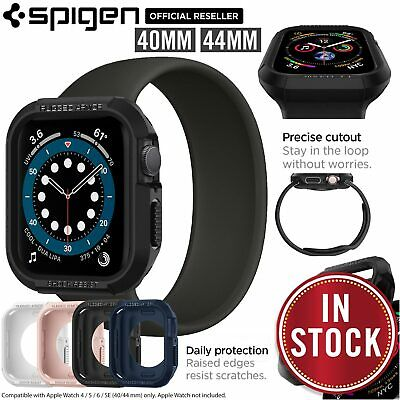 AU17.99 • Buy For Apple Watch IWatch Series 6 SE 5 4 40mm 44mm Case SPIGEN Rugged Armor Cover