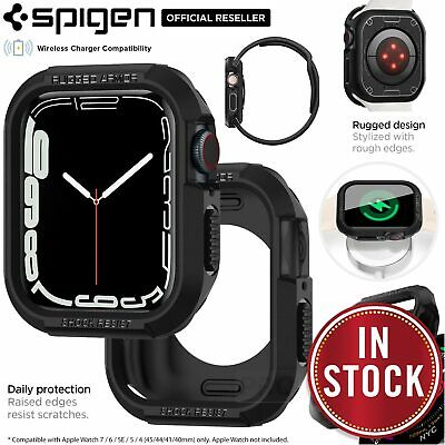 AU17.99 • Buy SPIGEN Rugged Armor Cover For Apple Watch IWatch Series 6 SE 5 4 40mm 44mm Case