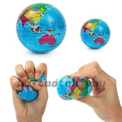 AU6.21 • Buy World Map Earth Globe Ball Squishies Squeeze Relief Palm Foam Play Toy Charms