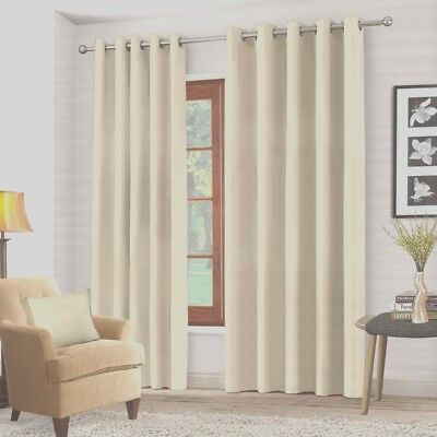 BLACKOUT RING TOP CURTAINS In CREAM ,BEDROOM LIVING ROOM CURTAINS 66  X 54  • 19.99£