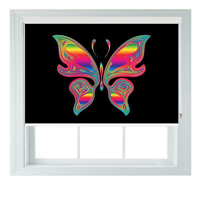 £95 • Buy Minimalistic Butterfly Rainbow Blackout Roller Blinds Bed Room Kitchen 2345ft