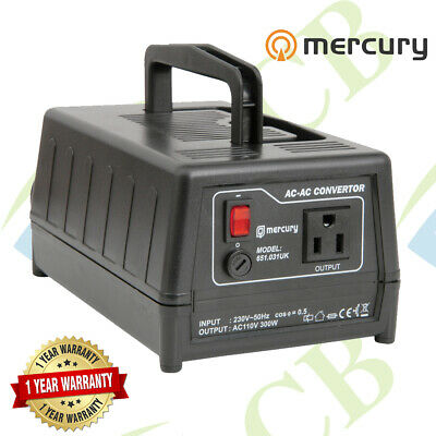 Mercury Step-down Voltage Converter Transformer 240V - 120V 300W USA TO UK • 63.51£