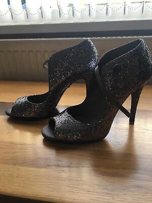 KG By Kurt Geiger Shoes- Pewter Glitter Sandals- Size 8/41 Worn Once • 30£