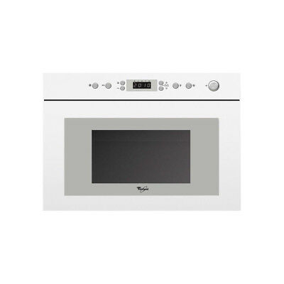 Whirlpool AMW498/WH Built In Kitchen Microwave Oven Quartz Grill Stainless Steel • 274.99£