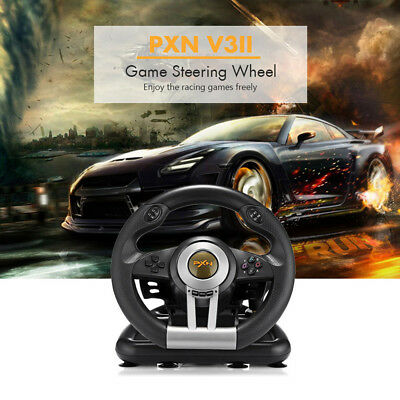 PXN V3II Racing Game Steering Wheel With Brake Pedal PC PS3 PS4 &Xbox One Wheel • 72.99$