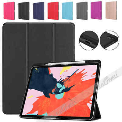 AU27.01 • Buy For IPad Pro 12.9  2018 Leather Smart Cover Case WITH Apple Pencil 2 Gen Holder