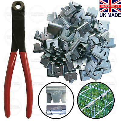 £49.95 • Buy Wire Mesh Large Clips / Cliptools Gabion Cage Making Fencing Wire CT35 UK Made