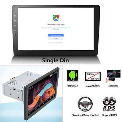 $227.99 • Buy 10.1  Android 7.1 Stereo Radio Player WIFI GPS Navigation Video 2.5D Touchscreen