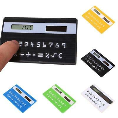 Mini Ultra Slim Credit Card Sized Solar Powered Pocket 8-Digit Calculator New BE • 2.57£