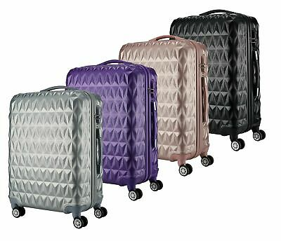 ABS Hard Shell Cabin Suitcase Case 4 Wheels Luggage Lightweight 20  24  28  NEW • 84.99£