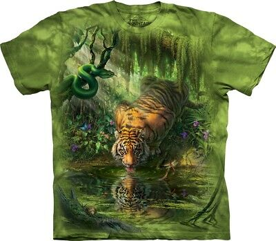 £24.99 • Buy The Mountain Unisex Adult Enchanted Tiger Animal T Shirt