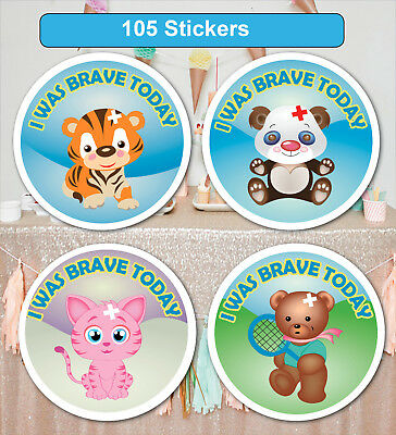 105 Personalised School Teachers Children Parents Brave Reward Sticker Label • 2.95£